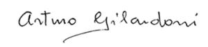 La firma di Arturo Gilardoni, mark