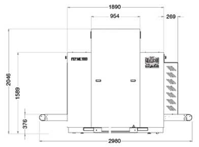 Sicurezza - Raggi X - Bagagli da Stiva - Fep Me 1000