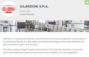 Gilardoni at Airport show Dubai - Security equipment