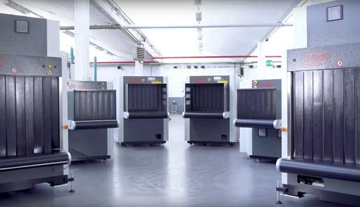 Carry-on baggage screening with x-ray inspection security system X-ray