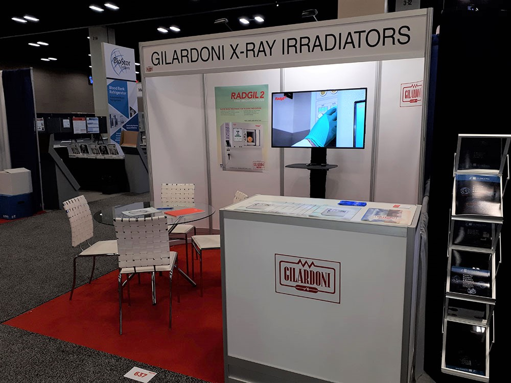Gilardoni at the congress of the American Association of Blood Bankers in San Antonio