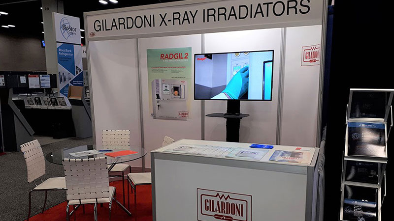 X-ray irradiator: Radgil2 at the congress of the American Association of Blood Bankers in San Antonio, Texas (USA)