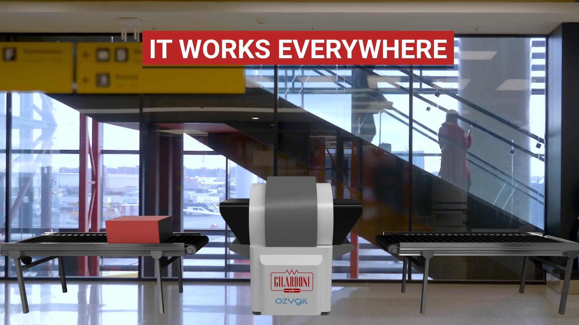 OZYGIL sanificatrice da virus e batteri (compreso COVDI-19): applicazione aeroporti