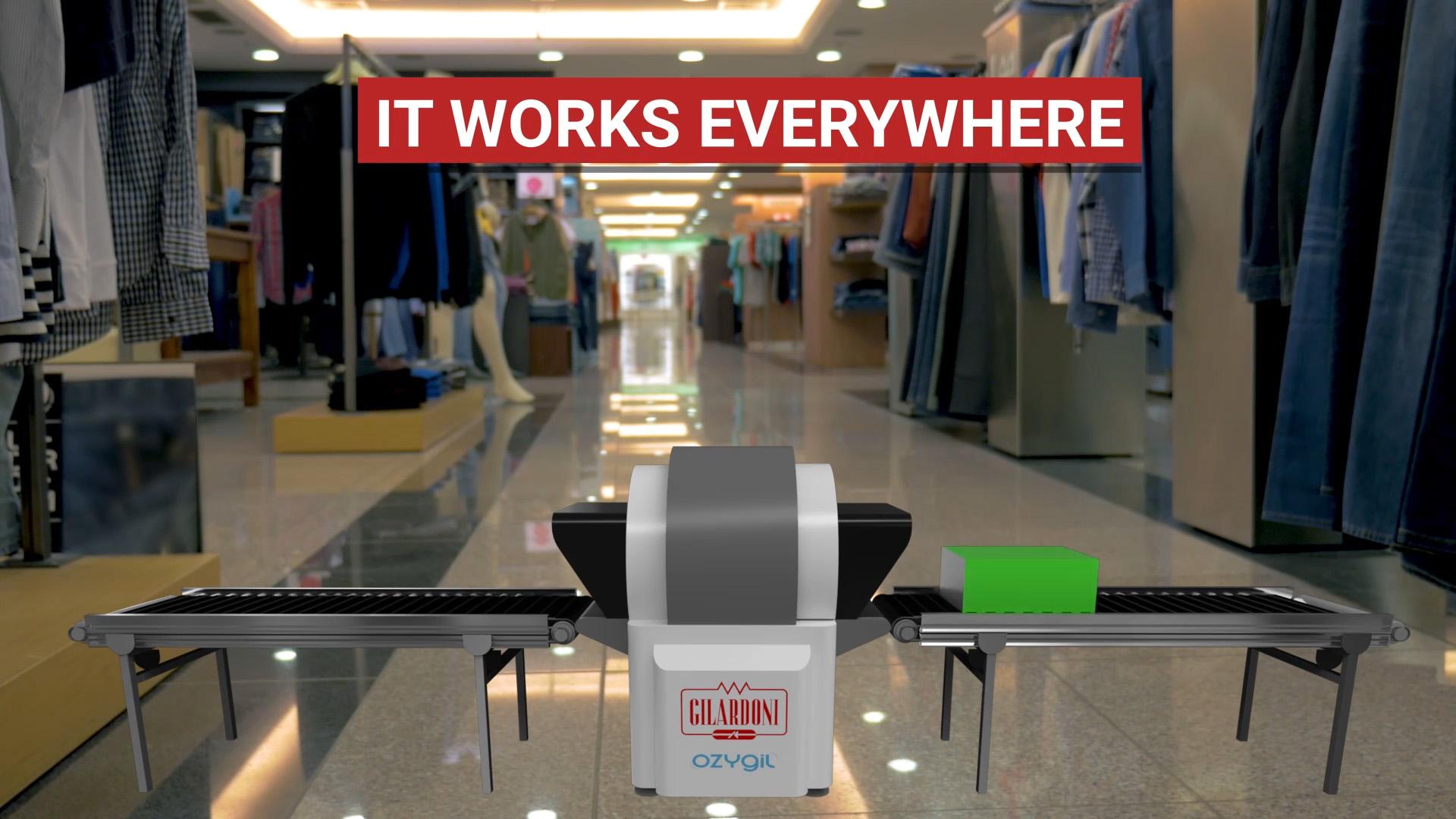 OZYGIL sanificatrice da virus e batteri (compreso COVDI-19): supermercati, negozi abbigliamento, etc