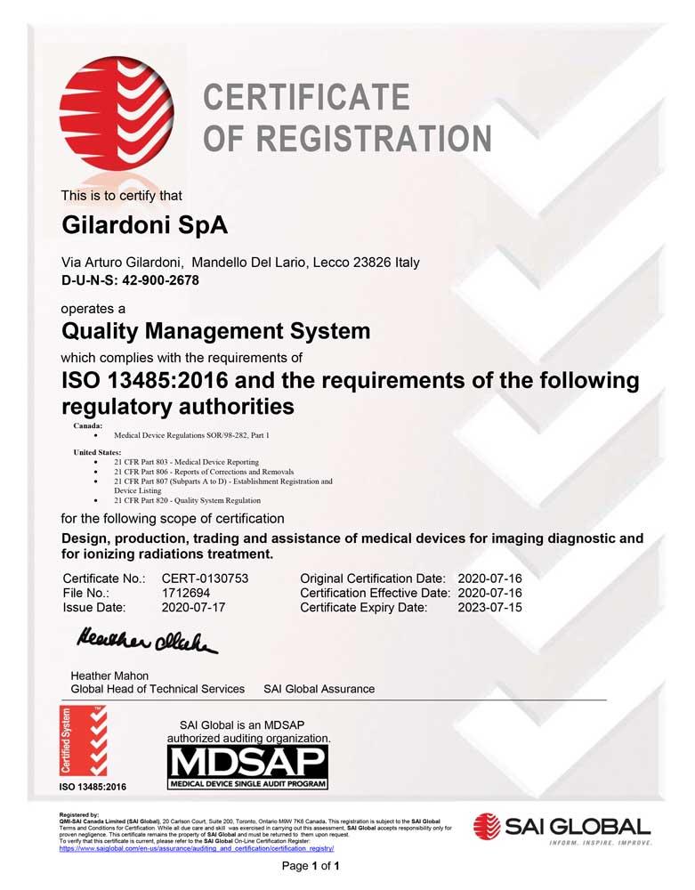 certificazione MDSAP per il riconoscimento del Sistema Qualità in ambito Medicale