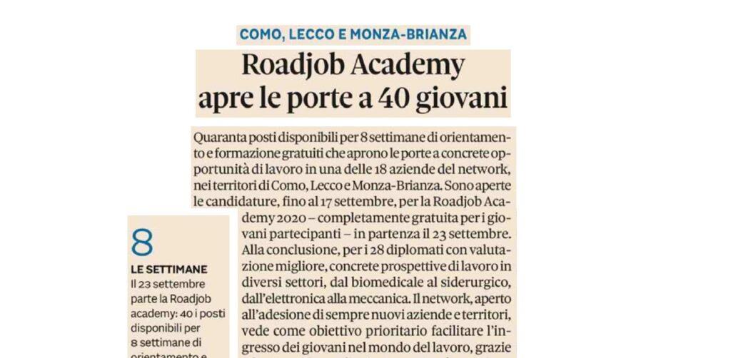 Il Sole 24Ore - RoadJob Academy - Gilardoni