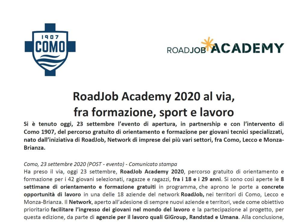 RoadJob Academy - Gilardoni