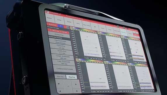 RDG5000 è un'apparecchiatura portatile multicanale per indagini non distruttive ad ultrasuoni